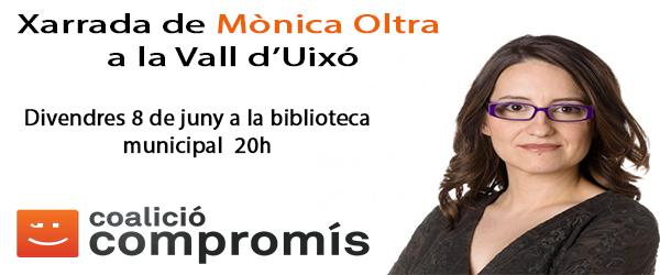 Mònica Oltra parlarà a la Vall d'Uixó el proper 8 de juny